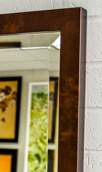 Bronze metallic framed mirror | storage organizer | Pinterest ...