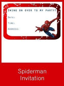 Spiderman Invitation Free Pdf Download Birthday