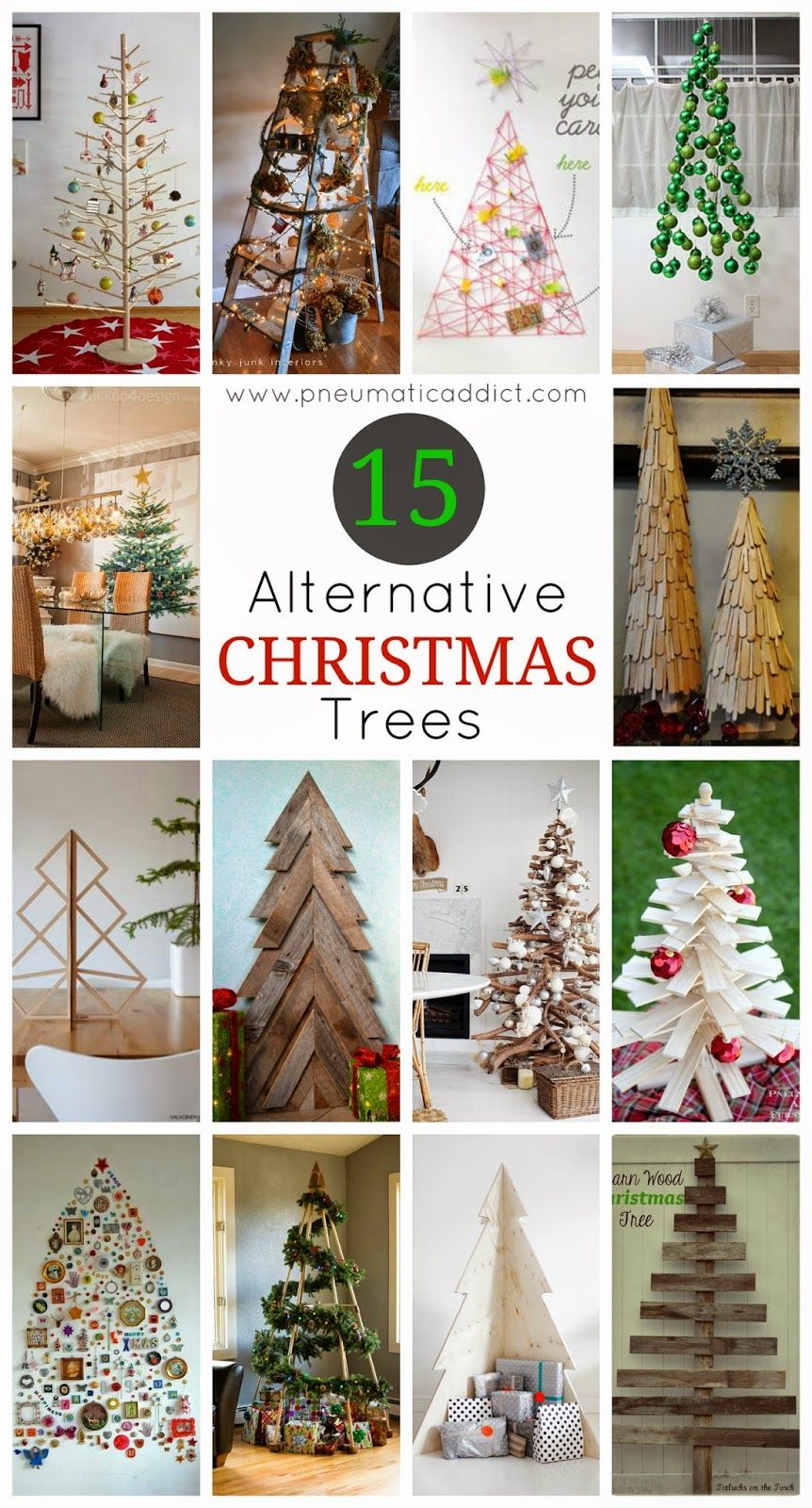 15 Alternative Christmas Trees | Alternative christmas ...