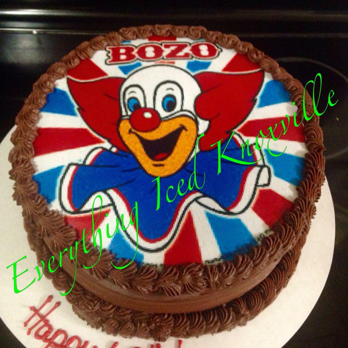 Bozo The Clown Cake Our Custom Cakes Pinterest