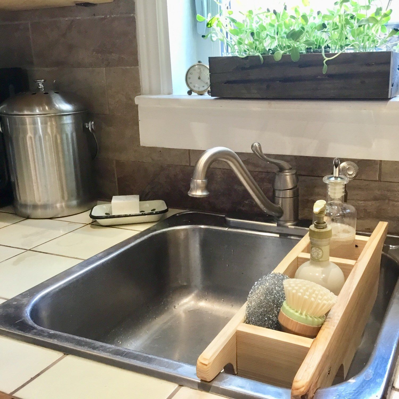 Kitchen Sink Caddy Kitchen Counter Organization Recycled Etsy Kitchen Sink Caddy Sink Kitchen Styling