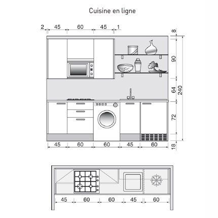 plan de cuisine en i | modern and kitchens