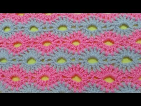 How to Crochet Road of flowers Stitch / Crochet Patterns # 2 ...