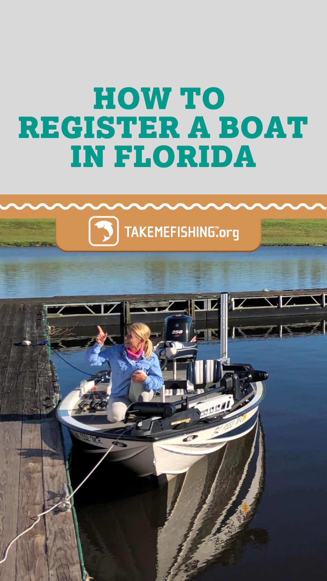 RegisterABoat in Florida. Once you purchase a boat, have