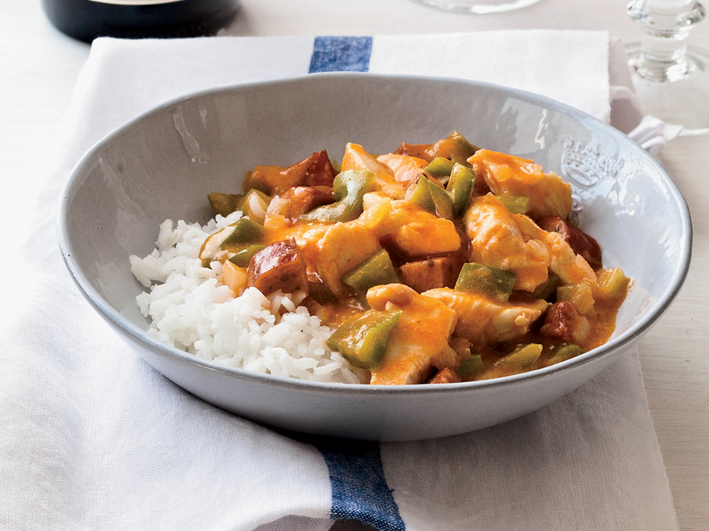 Chicken-and-Andouille Étouffée #cajundishes