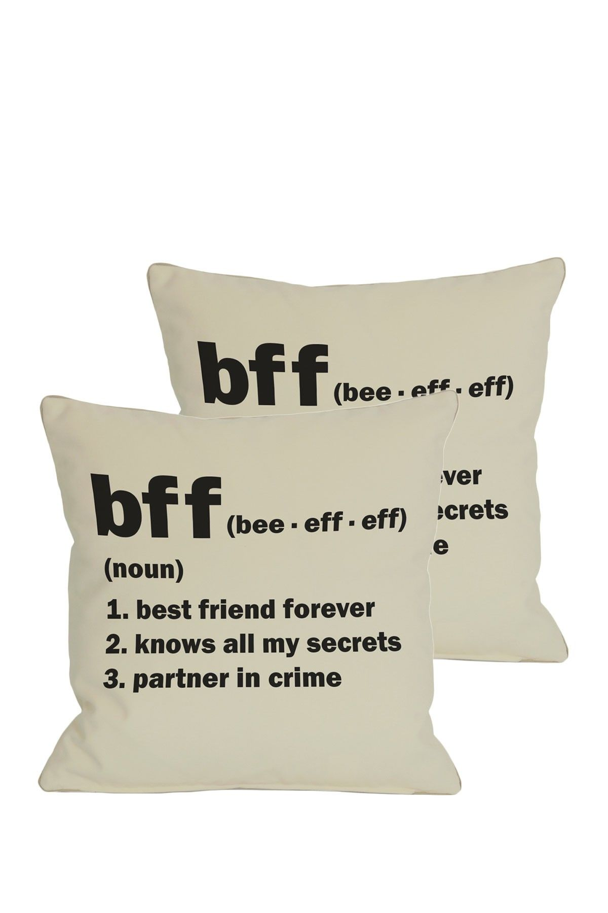 BFF Definition Pillows Set of 2