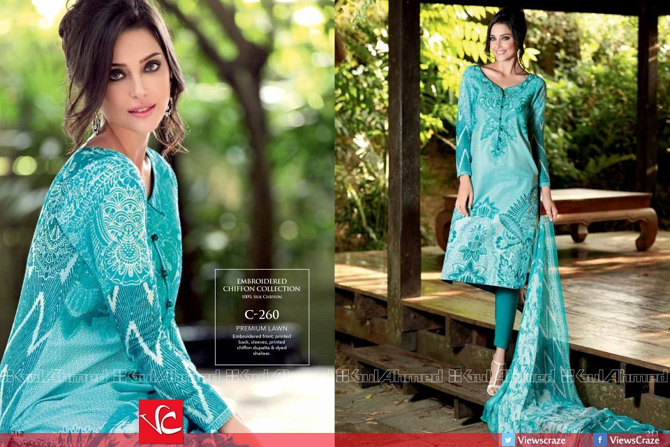 Gul Ahmed Spring/Summer Collection 2015   Lawn suits ...