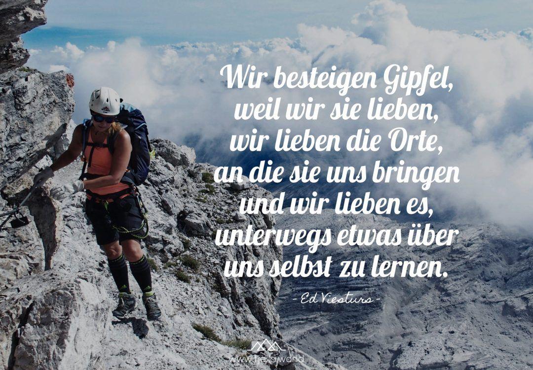 Aim High – Inspirierende Wandersprüche und Bergzitate