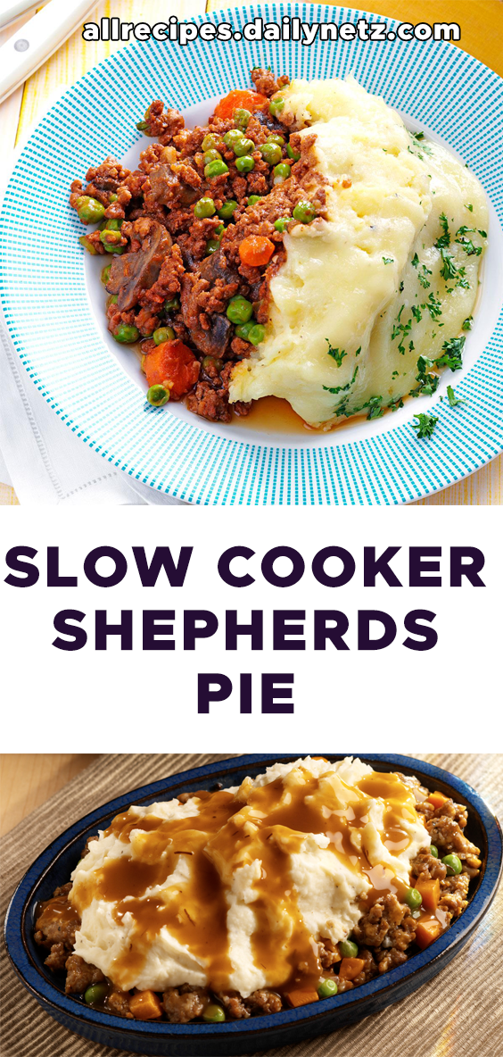 Slow Cooker Shepherds Pie All Recipes Easy Ground Easy Ground Beef Recipes Ground Beef Recipes Easy Beef Recipes Crockpot Recipes Slow Cooker