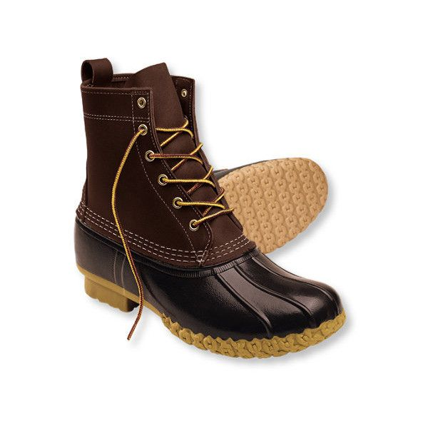 Men's Bean Boots by L.L.Bean, 8 ($109) ❤ liked on Polyvore featuring mens, men's shoes ve men's boots
