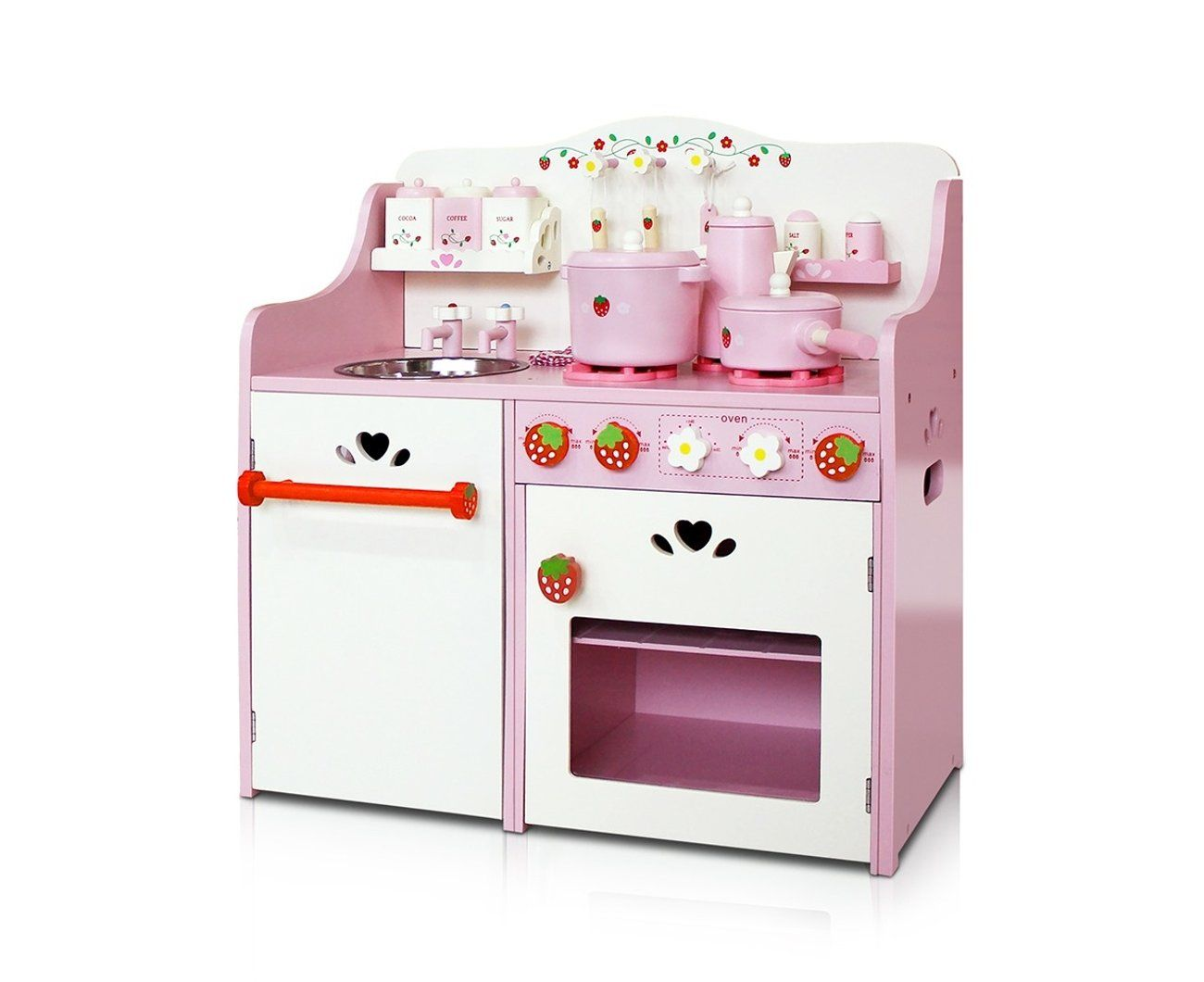 Kids Kitchen Play Set Wooden Pretend Play Sets Childrens ...