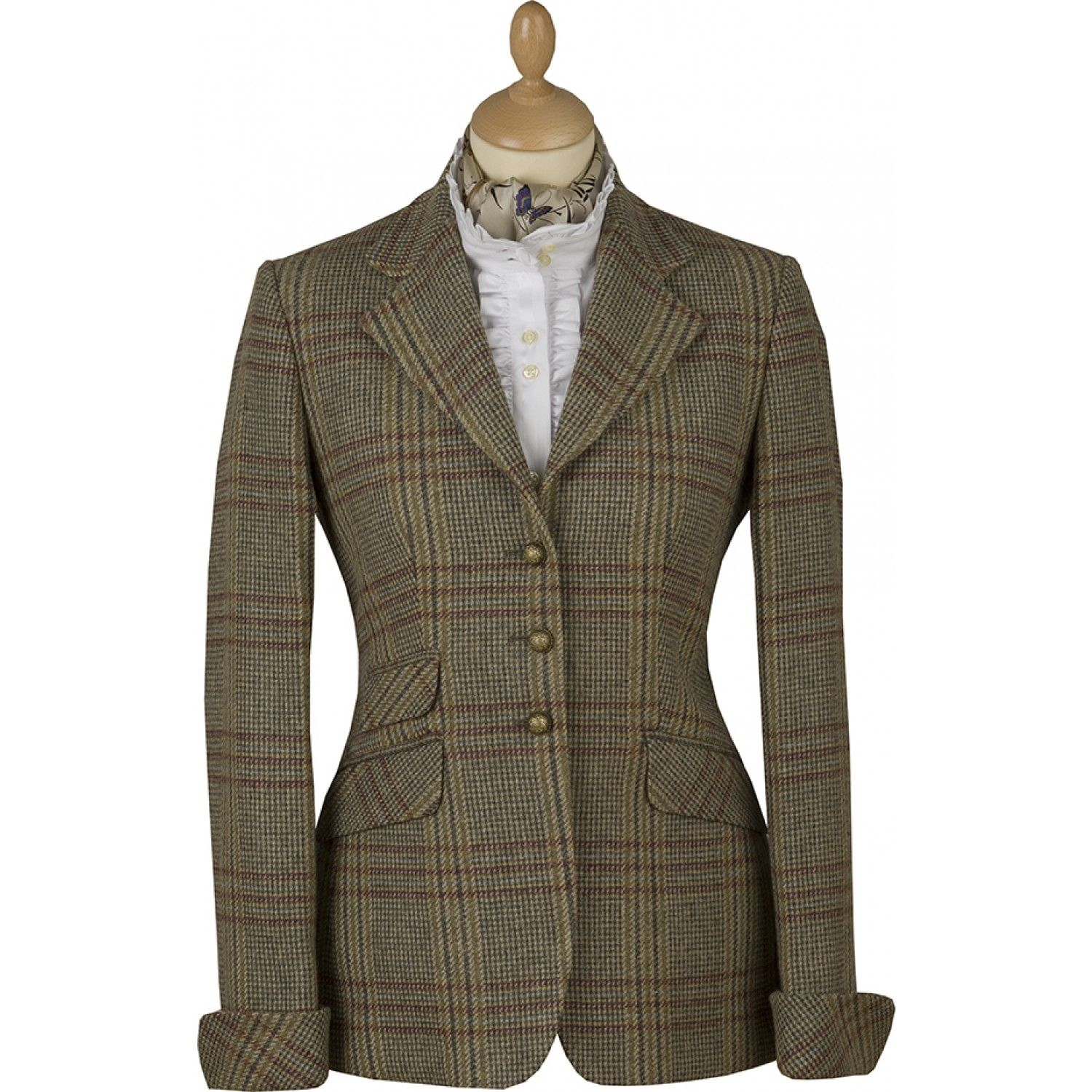 Fold Cuff Tweed Ladies Jacket. Love this cut and style ...