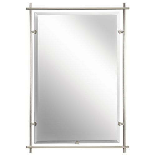 Eileen Brushed Nickel Mirror Kichler Rectangle Mirrors Home Decor |  Bathrooms | Pinterest | Brushed Nickel Mirror, Brushed Nickel And Powder  Room