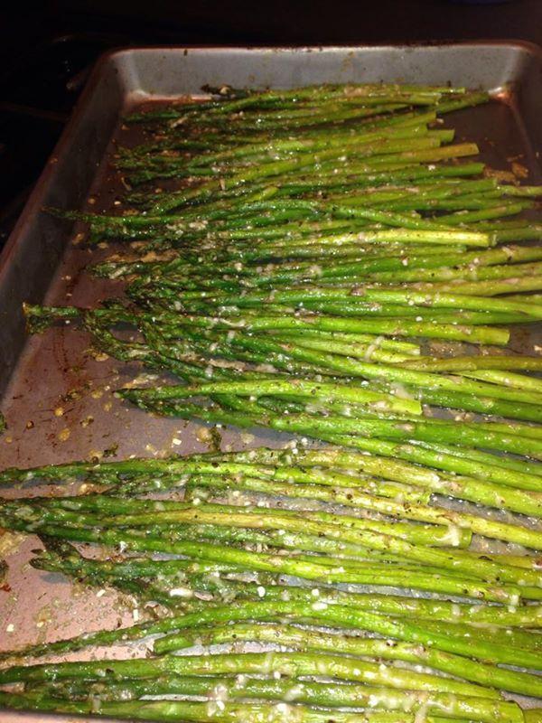 Roasted Asparagus with Parmesan - Cyndi
