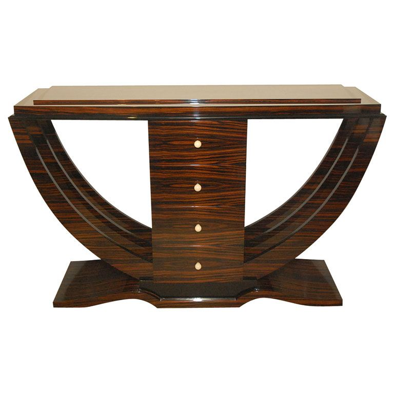 Macassar art deco console from a unique collection of for New art deco style furniture