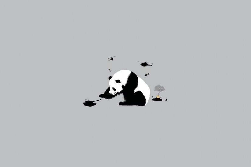 Abstract Funny Panda Bears Simple Simplistic Wallpaper Simplistic Wallpaper Panda Wallpapers Wallpaper