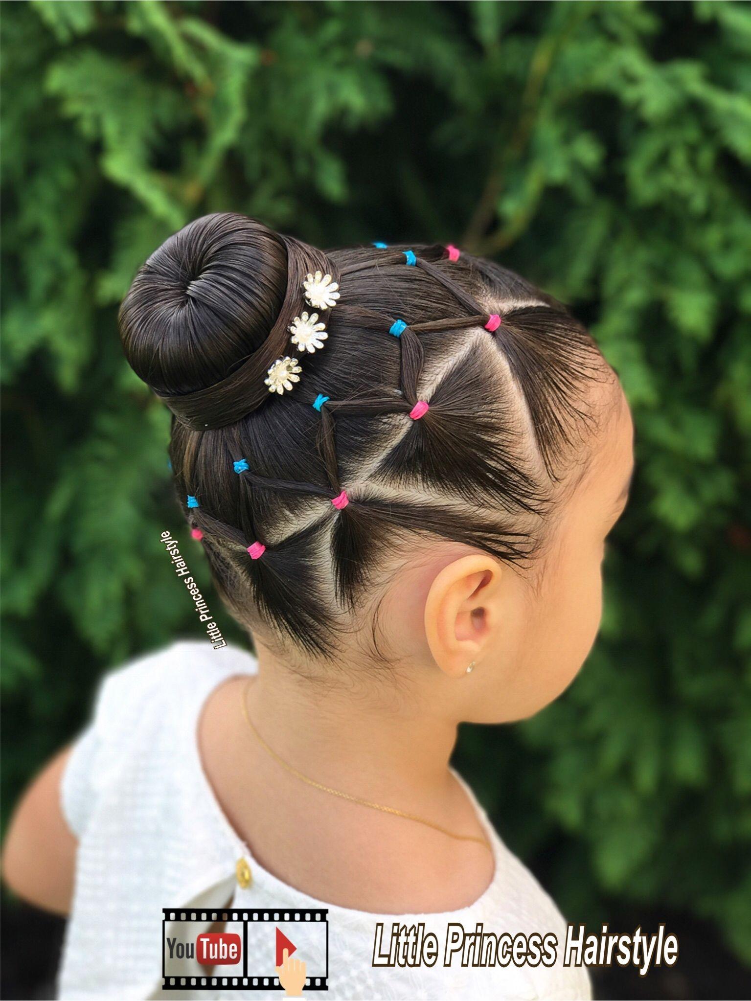 Explicación peinados niñas Fotos de ideas de color de pelo - DONA O CEBOLLA CON LIGAS EN TRIANGULOS FACIL Y RAPIDO PARA ...