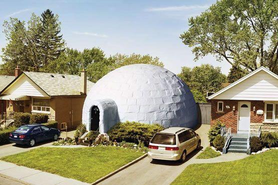 The igloo home USA | Unique house | Crazy houses, Unique house