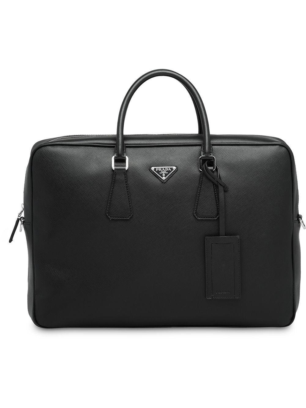 8677e43fde9a2 PRADA PRADA SAFFIANO LEATHER BRIEFCASE - BLACK.  prada  bags  leather