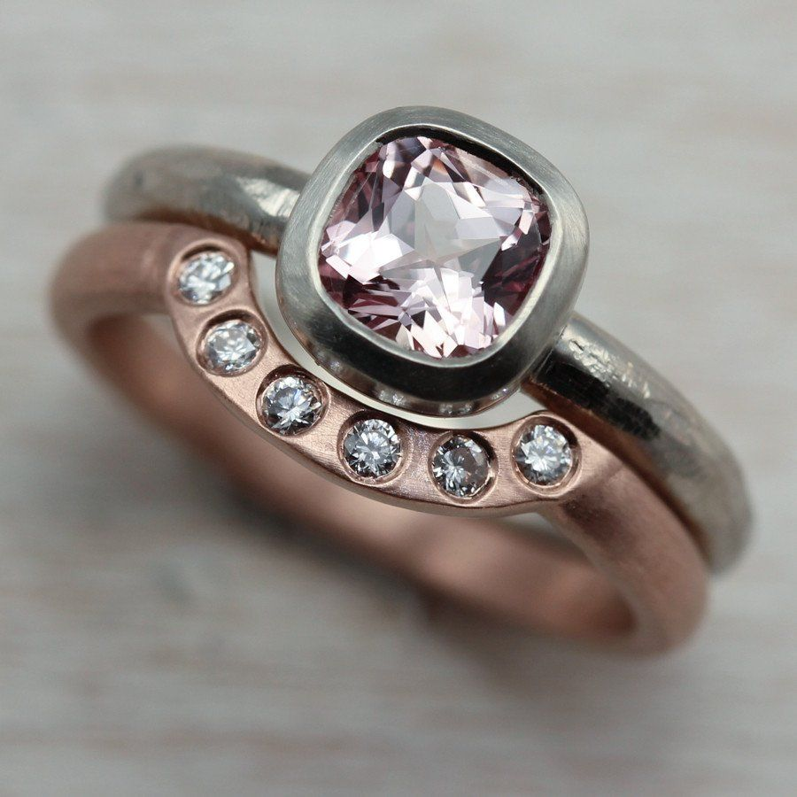 For an engagement ring and wedding band set our customer opted for