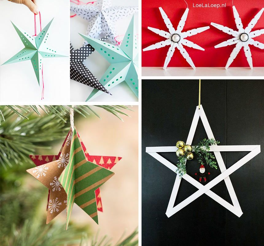 20 Estrellas De Navidad Ideas Originales Para Hacer Estrellas Pequeocio Estrellas De Navidad Estrella De Navidad Manualidades Adornos De Navidad Ideas