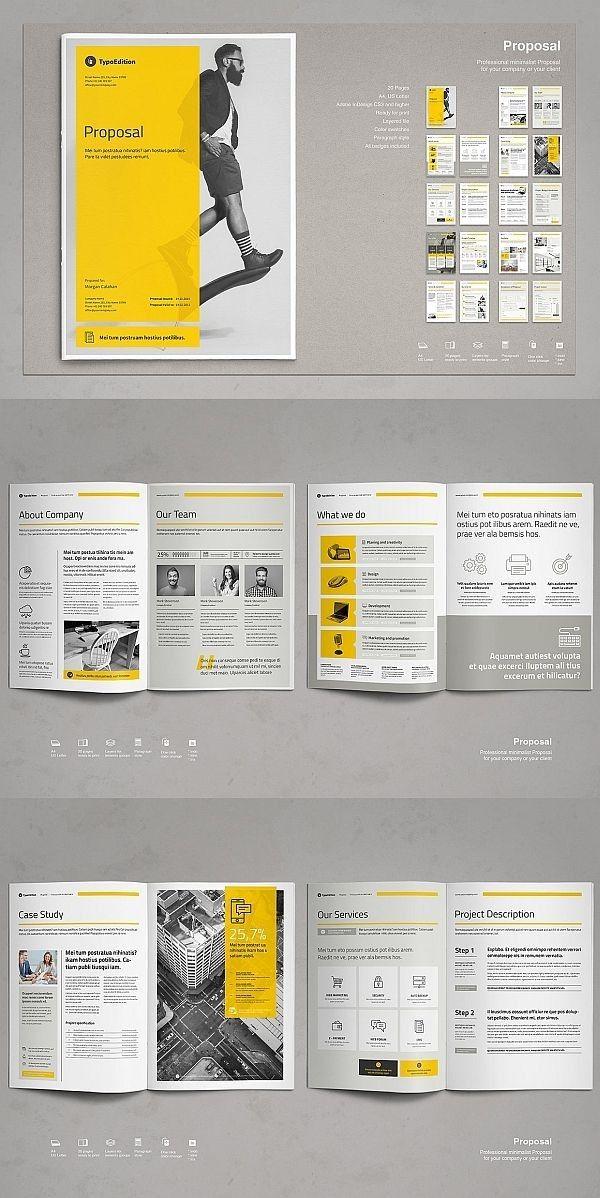 Business Proposal Vol Bookletgestaltung Seiten Layout Design Broschure Vorlage