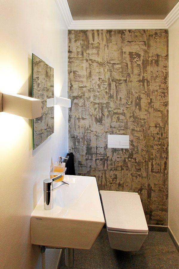 Gaste Wc Ohne Fliesen Mit Moderner Und Hochwertiger Wandbeschichtung Badgestaltung Badezimmer Fliesen Wandbeschichtungen