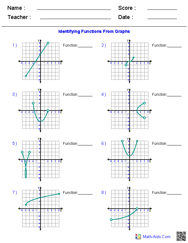Algebra 1 Worksheets Domain And Range Worksheets Algebra Graphing Functions Algebra Worksheets