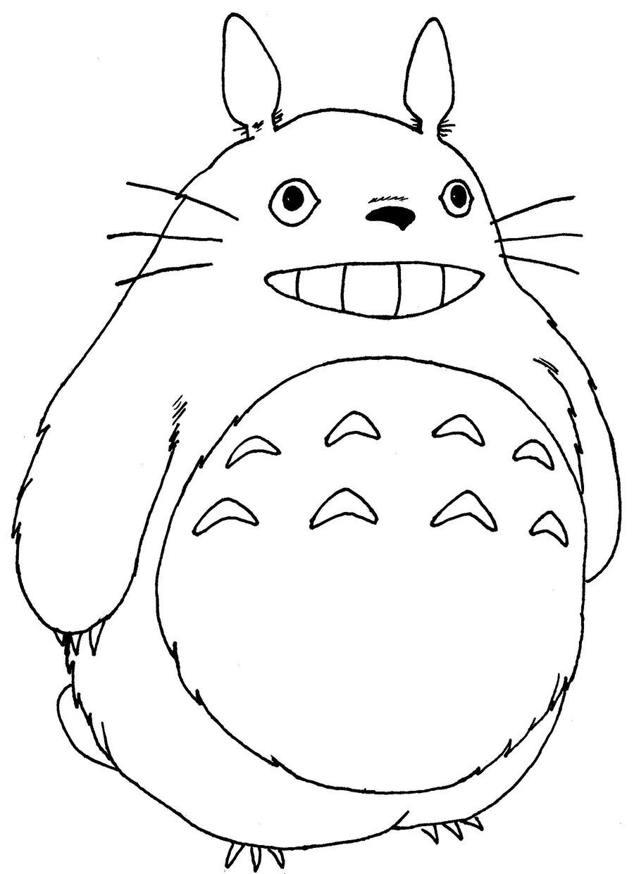 Anime Coloring Pages For Kids My Neighbor Totoro Free Printable Jpg 900 1241 Totoro Drawing Totoro My Neighbor Totoro