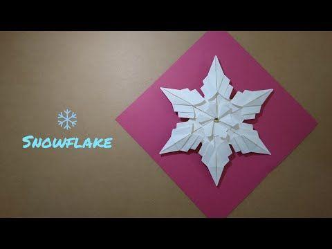 Origami Schneeflocke Zu Weihnachten Origami Schneeflocke 6