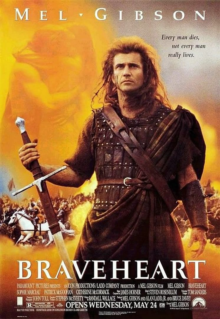 Our Movie of the Week: 'Braveheart' --- All week we'll be sharing photos, interesting facts, and clips from this epic tale of revenge and revolution, starring Mel Gibson --- http://www.movieroomreviews.com/braveheart