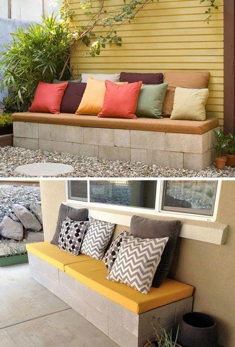 24 coole ideen um betonsteine im garten oder haushalt zu verwenden pinterest. Black Bedroom Furniture Sets. Home Design Ideas
