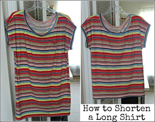 How To Shorten A Shirt Taylormade Hem Shirt Diy T Shirt Tutorial Altering Clothes