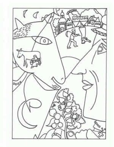marc chagall coloring pages famous artist coloring pages printable - Painting Sheets