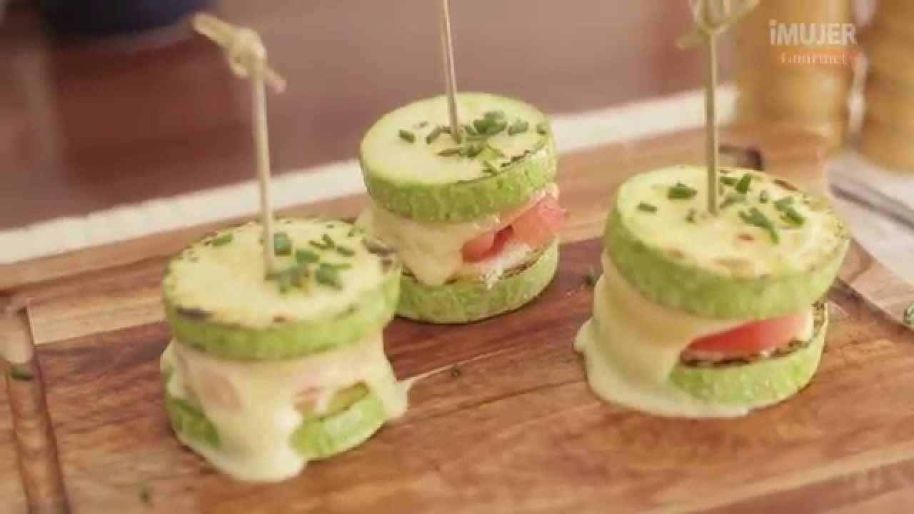 Originales mini sándwiches de zucchini | @RecetasiMujer