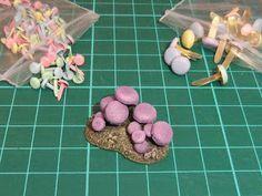 The Crooked Staff Blog: DIY Cavern/Underdark scatter terrain Use brads for mushrooms #wargamingterrain