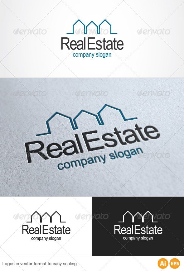 Real Estate Logo by MuseFrame Pack included: Ai &EPS 10 CMYK