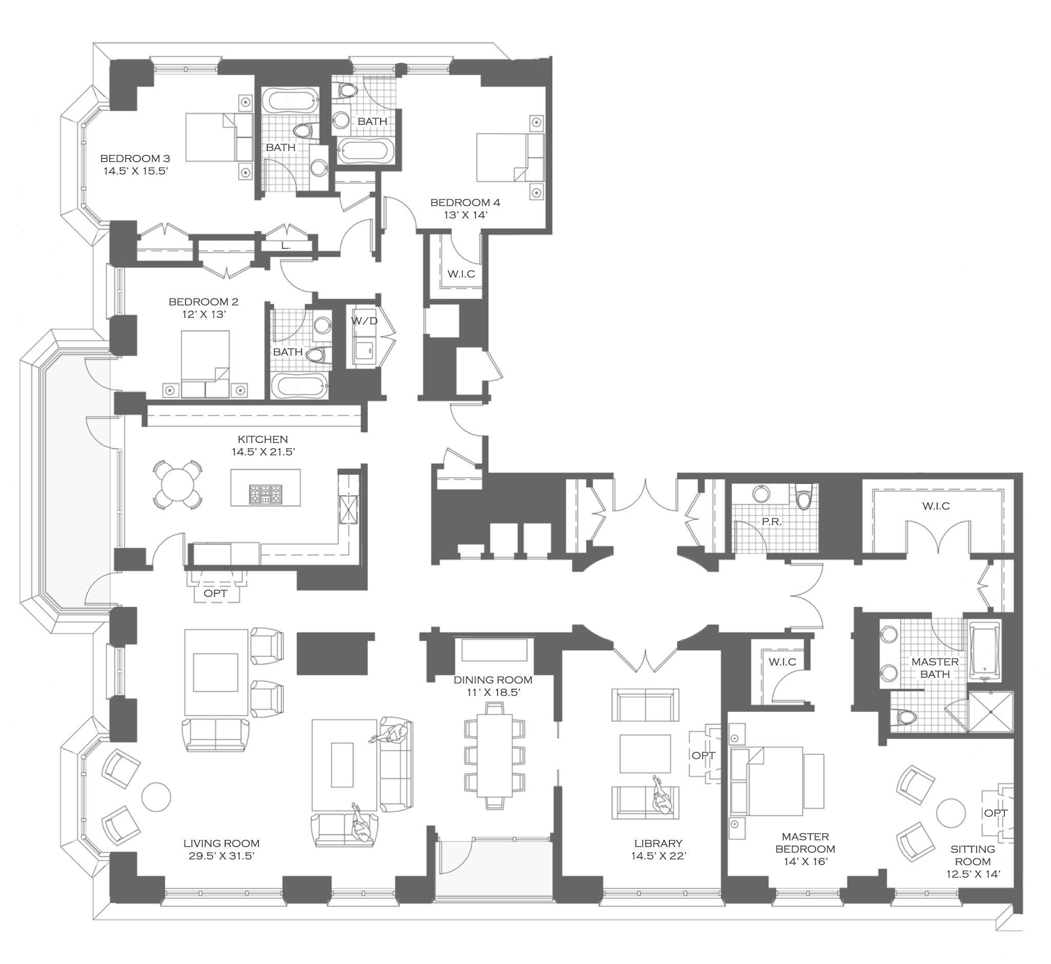 Keptalalat A Kovetkezore Parisian Apartment Plan Un Apartment Floor Plans Apartment Floor Plan Apartment Plans