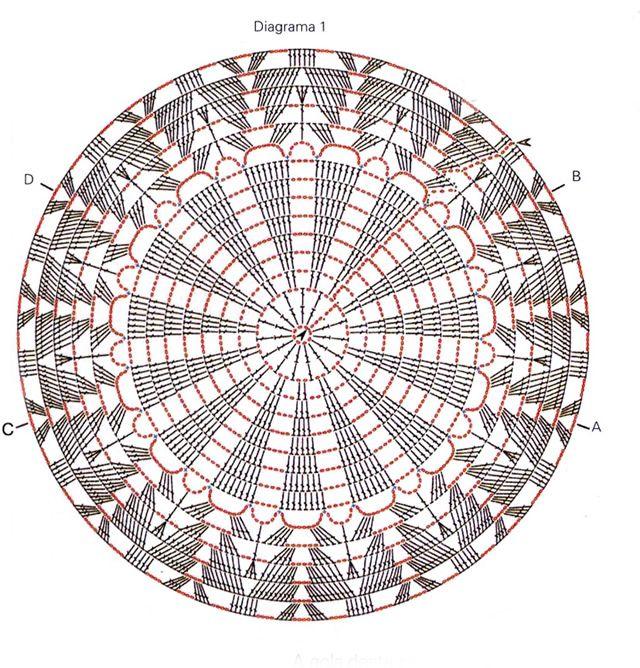 Chaleco circular | Ganchillo, Crochet manteles y Mandalas