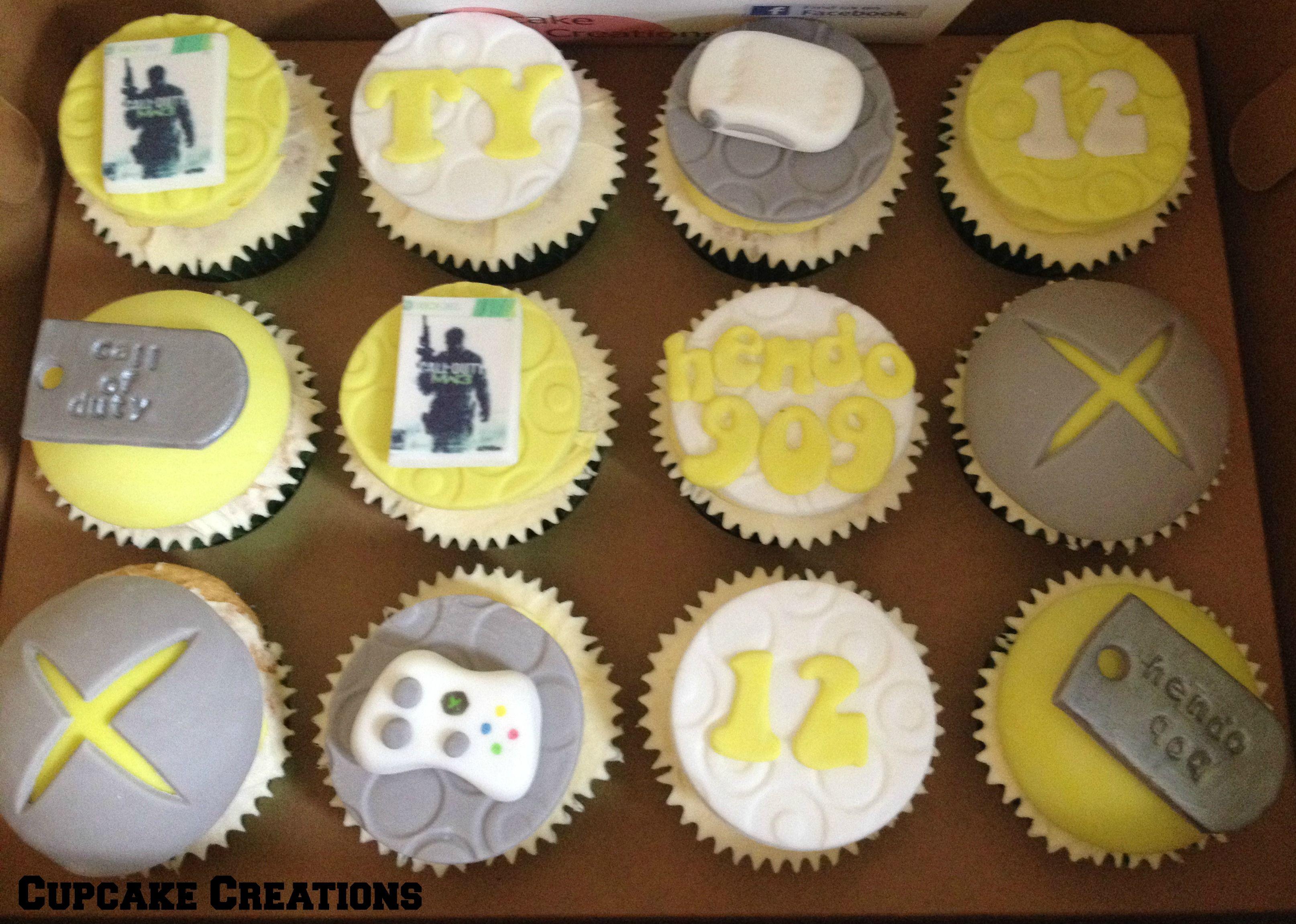 Xbox theme cupcakes