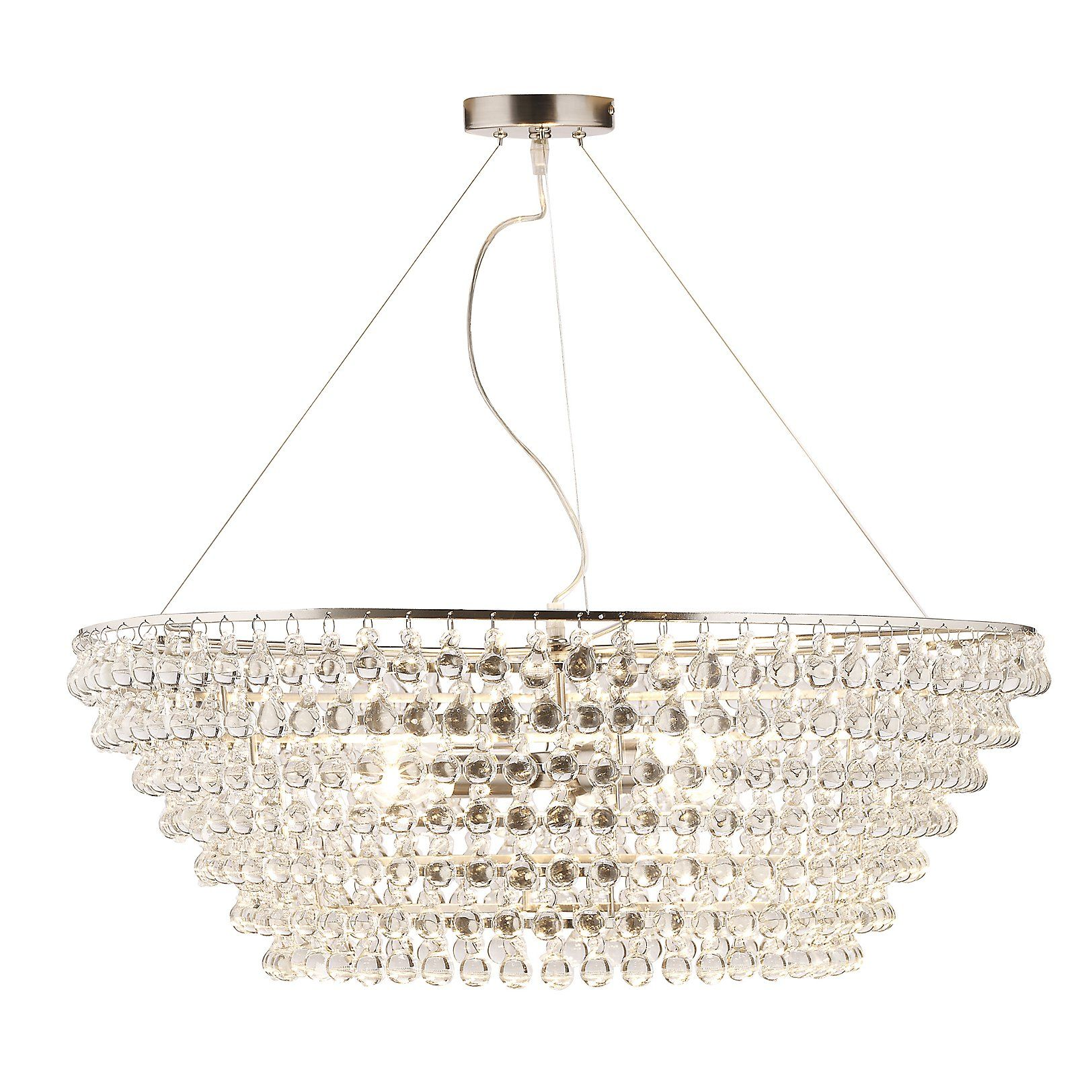 Glass Orb Chandelier Extra The White pany UK