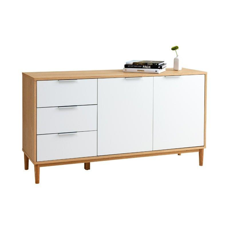 Reg 44999 29800 SALE RISSKOV Sideboard Solid Oak With White Lacquered MDF Featuring OakSideboardBuffetsScandinavianDining Room