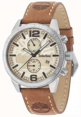 Timberland Sagamore Cream Dial Tan Leather Strap 15256JS 07 ... 937dacd2439