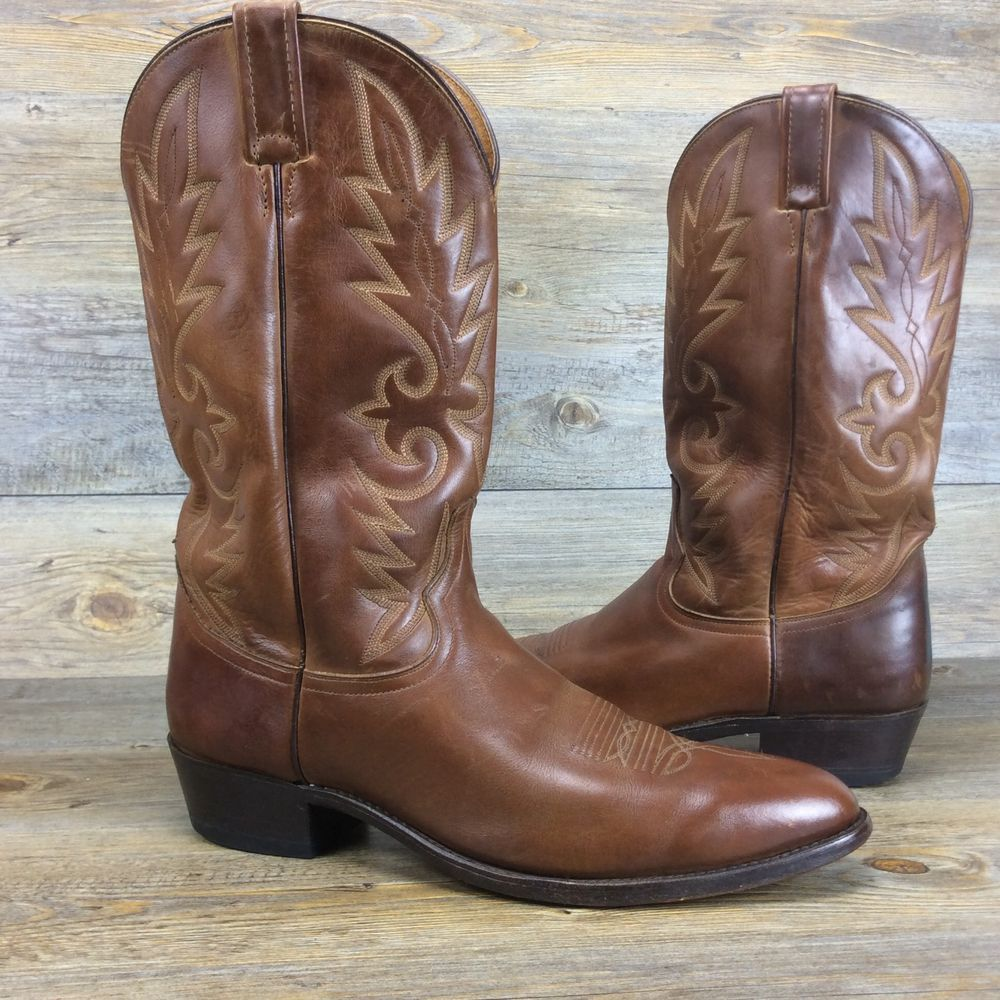 Men's Dan Post Brown All Leather Cowboy Boots Men's 13 D #DanPost ...