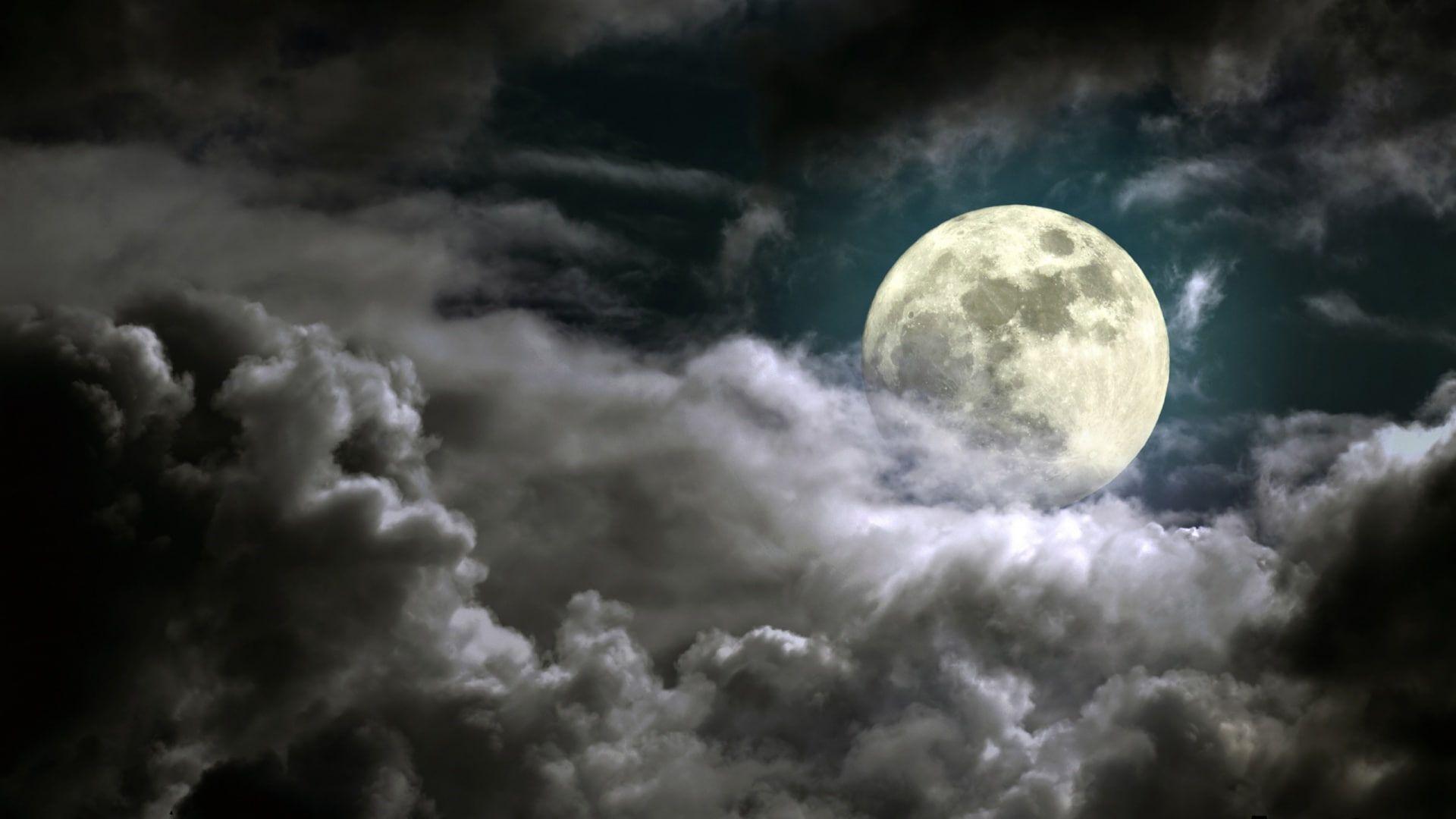 Nature Full Moon Dark Moonlight Sky Clouds Nature Full Moon Dark Moonlight Sky Clouds 1080p Wallpaper Hdwal Cloud Wallpaper Cold Moon Night Clouds