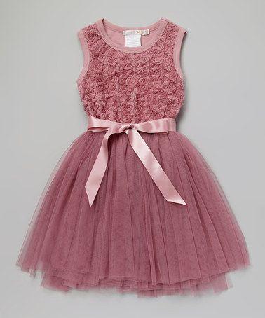 Dusty Pink Ruby Rosette Tutu Dress - Infant, Toddler  Girls by Designer Kidz #zulily #zulilyfinds