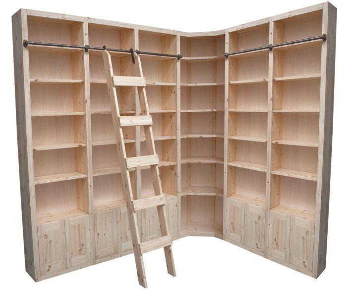 Kast Met Ladder Gemaakt Van Massief Hout House Stuff In