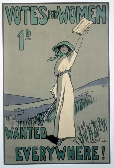 Feliz Dia Das Mulheres Suffragette Suffragette Colours Vintage Posters