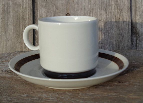 Swedish Vintage Small Coffee Cup Saucer Rörstrand Sweden