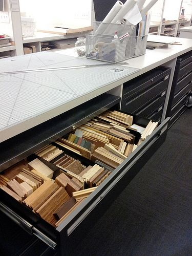 Callison design resource center space material library - Materials needed for interior design ...